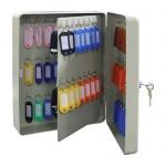 Шкафчик для ключей Промет KB-70 на 70 ключей, ключевой замок, с брелоками, 300х230х90мм