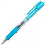 Ручка шариковая автоматическая Pilot Super Grip синяя, 0.32мм, голубой корпус