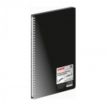 Папка файловая Berlingo Standard черная, A4, на 60 файлов, AVg_60001