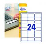 Этикетки высокостойкие Avery Zweckform L6146-20, белые, 63.5х33.9мм, 24шт на листе А4, 20 листов, 480шт, для лазерной печати
