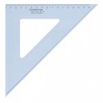 Угольник Staedtler Mars 567, 45°/45°, прозрачный голубой, 26 см