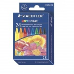 Мелки восковые Staedtler NorisClub, круглые, 8мм, 24 цвета