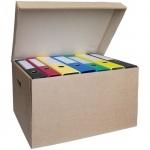 Архивный короб Office Space Делопроизводство коричневый, 480x325x295мм, A-GDl_3100
