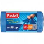 Мешки для мусора Paclan Multitop 35л, синие, 15мкм, 30шт/уп