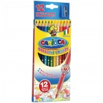 Набор цветных карандашей Carioca 12 цветов, с точилкой, 40380