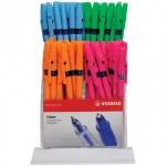 Набор ручек шариковых Stabilo Liner 808 синие, 0.7мм, 80шт, дисплей, флуоресцентные цвета корпуса