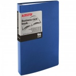 Визитница Berlingo на 96 визиток, 110х190мм, пластик, синяя