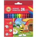 Фломастеры Koh-I-Noor Пчелка 24 цвета, трехгранные, смываемые