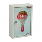 Шкафчик для ключей Office Force на 60 ключей, серый, 200х300х80мм