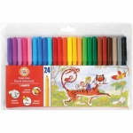 Фломастеры Koh-I-Noor Звери, трехгранные, смываемые, 24 цвета