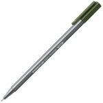 Ручка капиллярная Staedtler Triplus Fineliner 334, 0,3мм, зеленая миля