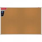 Доска пробковая Berlingo Premium 45х60см, коричневая, алюминиевая рама