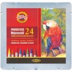Набор акварельных карандашей Koh-I-Noor Progresso Aquarell 24 цвета, 8784