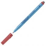 Маркер стираемый Staedtler Lumocolor красный, 0.8мм, круглый наконечник