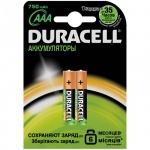 Аккумулятор Duracell AAА/HR03, 750mAh, 2шт/уп