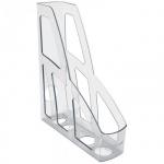 Накопитель вертикальный для бумаг Стамм Лидер А4, 70мм, прозрачный, ЛТ130