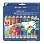 Набор цветных карандашей Staedtler NorisClub, с ластиком, 24 цвета