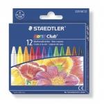 Мелки восковые Staedtler NorisClub, круглые, 8мм, 12 цветов