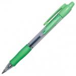 Ручка шариковая автоматическая Pilot Super Grip синяя, 0.32мм, салатовый корпус