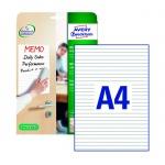 Этикетки-доски Avery Zweckform 70705, белые, 210x297мм, 1шт на листе А4, 4 листа, 4шт