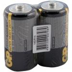 Батарейка Gp Supercell C/R14, 1.5В, солевые, 2шт/уп