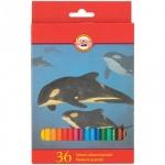 Набор цветных карандашей Koh-I-Noor Animals 36цв