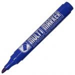 Маркер перманентный Crown Multi Marker синий, 5 мм, скошенный наконечник