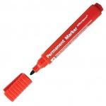 Маркер перманентный Office Space 8004 красный, 2мм, пулевидный наконечник