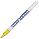Маркер-краска Munhwa Slim Size желтый, 2 мм, пулевидный наконечник, нитро-основа