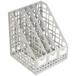 Накопитель вертикальный для бумаг Стамм А4, 4 секции, 240мм, серый, ЛТ82