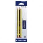 Набор чернографитных карандашей Staedtler Noris Noris Club, HB х 3шт + 2 предмета, 120RBK3D