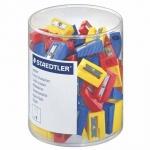 Точилка Staedtler 1 отверстие, ассорти, 50шт/уп, 51050KP100