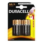 Батарейка Duracell Basic AA/LR6, 1.5В, алкалиновые, 6шт/уп