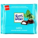 Шоколад Ritter Sport, с мятой, темный