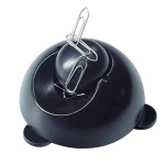 Скрепочница магнитная Helit черная, с шаром