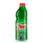 Средство для прочистки труб Tiret 1л, антибактериальное, гель