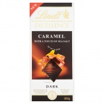 Шоколад Lindt Excellence темный, карамель с солью, 100г