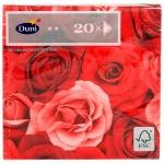 Салфетки Duni Romance бордо, 33х33см, 3 слоя, 20шт