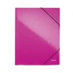 Пластиковая папка на резинке Leitz Wow, A4, до 150 листов, розовая