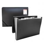 Пластиковая папка на резинке Erich Krause Standard черная, A4, 6 отделений