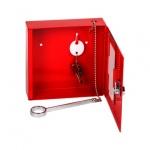 Шкафчик для аварийного ключа Office Force, ключевой замок, красный, 150х150х40мм