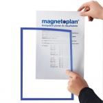 Слайд-рамка магнитная Magnetoplan А4, синяя, 5шт/уп