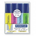 Текстовыделитель Staedtler Textsurfer Classic набор 4 цвета, 1-5мм, скошенный наконечник