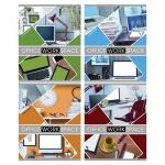 Тетрадь общая Bg Office, A5, 48 листов, в клетку, на скрепке, мелованный картон
