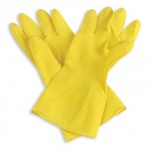 Перчатки латексные Paclan Professional, желтые
