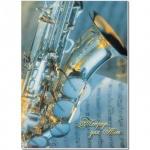 Тетрадь для нот Полином ассорти, А4, 24 листа, вертикальная, на скрепке, мелованный картон