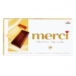 Шоколад Merci кофе и сливки, молочный, 100г