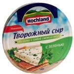 Сыр творожный Hochland 60% с зеленью, 140г, треугольнички