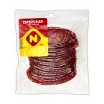 Колбаса Останкино Еврейская деликатесная сырокопченая, 150г, нарезка