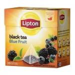 Чай Lipton, черный, в пирамидках, 20 пакетиков, Blue Fruit